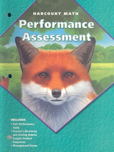 9780153207020: California Harcourt Math: Performance Assessment, Grade 5