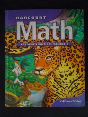 Harcourt Math: Grade 1; Volume 1, Teacher's Edition: Maletsky, Evan M.