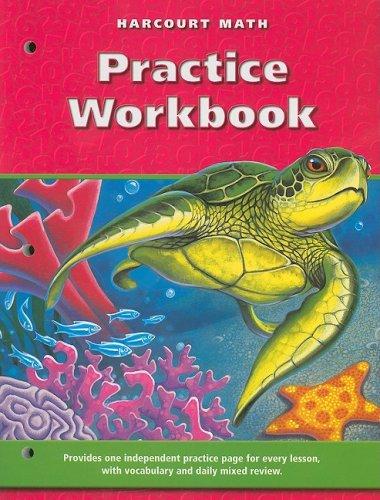 9780153207693: Harcourt Math: Practice Workbook, Grade 4