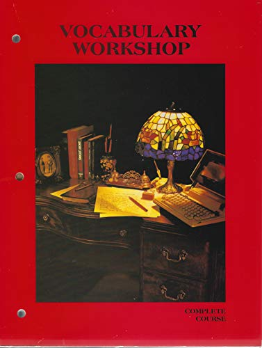9780153207761: Vocabulary Workshop : Complete Course [Paperback] by Harcourt Brace Jovanovich