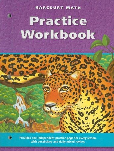9780153207860: Harcourt School Publishers Math: Practice Workbook Grade 6
