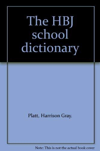 9780153211423: Title: The HBJ school dictionary