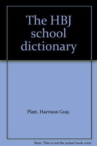 9780153211423: The HBJ school dictionary