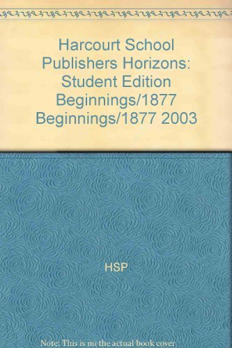 9780153213496 Horizons United States History Beginnings