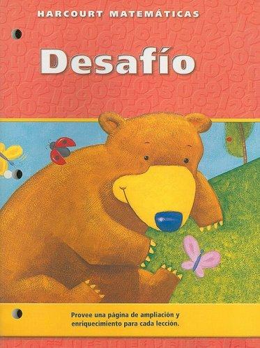 Harcourt Matematicas Desafio Edicion del Estudiante, Grado K (Spanish Edition): Harcourt School ...