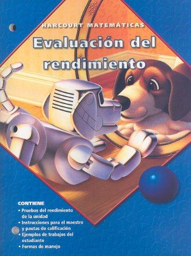 9780153216961: Harcourt Matematicas: Evaluacion del Rendimiento, Grado 3 (Spanish Edition)