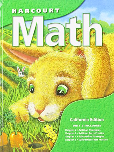 9780153218347: Harcourt School Publishers Math California: Student Edition Unit Book Grade 1 2002