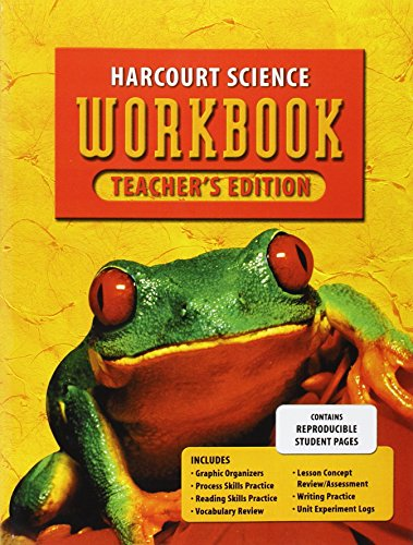 Harcourt Science: Te Workbook Gr 2