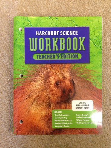 9780153237195: Harcourt Science: Teacher's edition Workbook,  Grade 3
