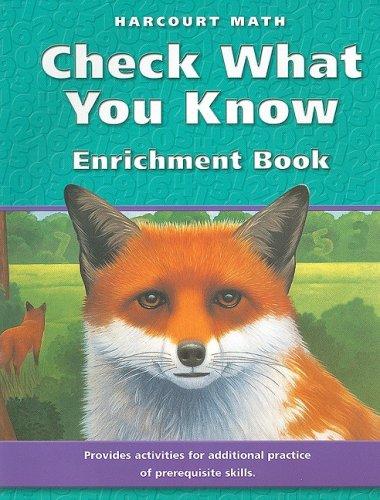Harcourt School Publishers Math: Enrichment Book Grade: HARCOURT SCHOOL PUBLISHERS