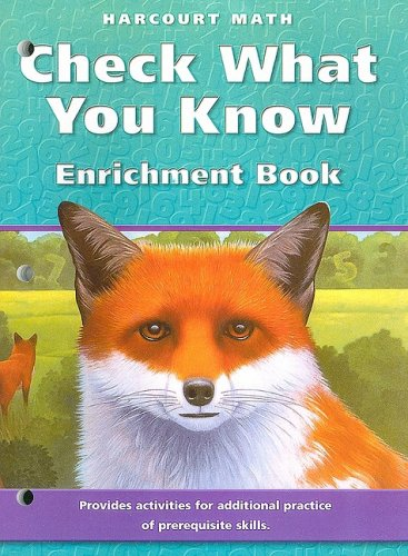 9780153252570: Harcourt Math: Check What You Know Enrichment Book, Grade 5