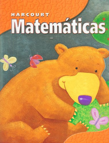 9780153258107: Harcourt School Publishers Matematicas: Student Edition Grade K Nat 2002