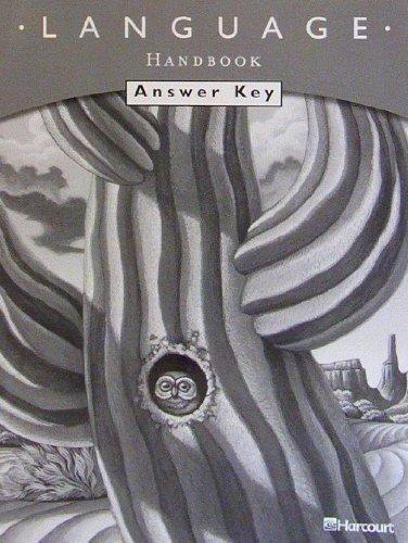 9780153261633: Harcourt School Publishers Trophies: Language Handbook Answer Key Grade 4