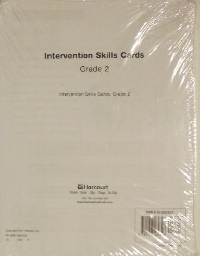 9780153262326: Trophies: Intervention Skills Cards Grade 2