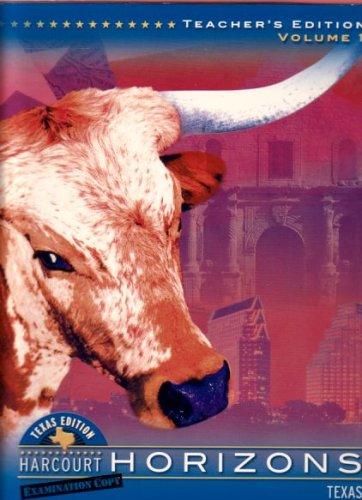 9780153285240: Harcourt Horizons Texas Teacher's Edition 2003 Volume 2