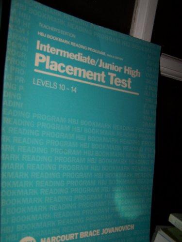 9780153315978: Intermediate/junior high placement test (HBJ bookmark reading program, Eagle edition. Levels 10-14)