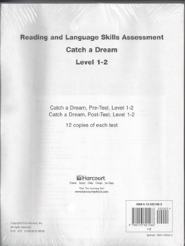 9780153321566: Trophies: Reading and Language Skills Assessment 12-pack Grade 1-2