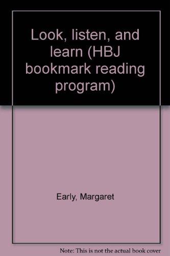 9780153323300: Look, listen, and learn (HBJ bookmark reading program)