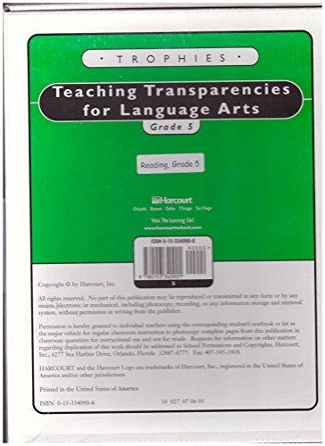9780153340901: Trophies: Teaching Transparencies for Language Arts Grade 5
