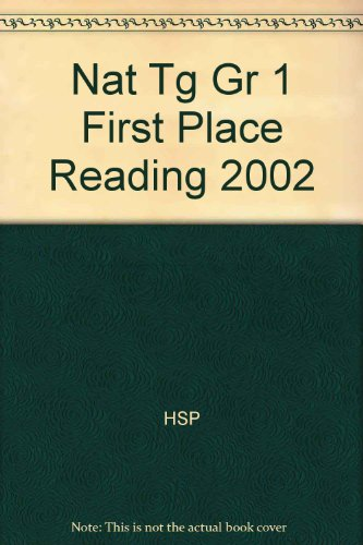 9780153345623: Nat Tg Gr 1 First Place Reading 2002