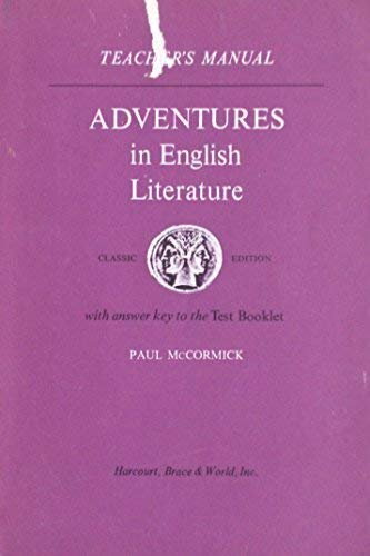 9780153351273: Adventures in English Literature: Teacher's Manual