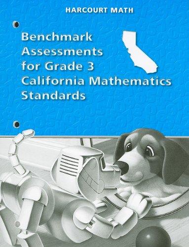 9780153358470: California Harcourt Math Benchmark Assessments for Grade 3 Mathematics Standards
