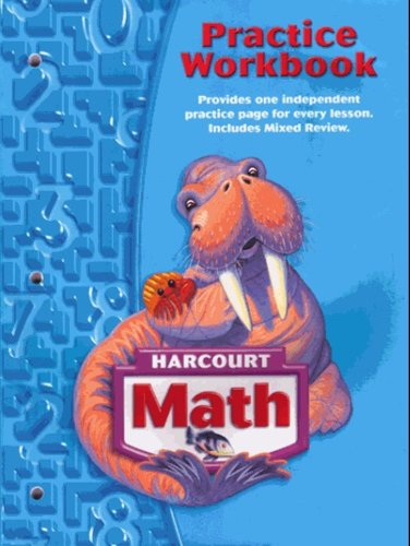 9780153364754: Harcourt School Publishers Math: Practice Workbook Student Edition Grade 3