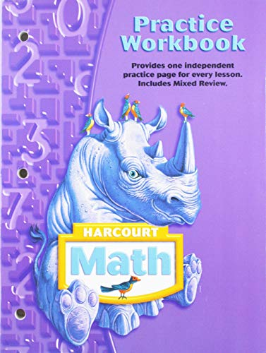 9780153364761: Harcourt School Publishers Math: Practice Workbook Student Edition Grade 4