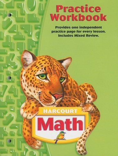 9780153364778: Harcourt Math Practice Workbook, Grade 5