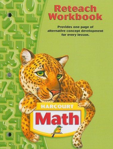 9780153364914: Harcourt Math: Reteach Workbook Grade 5