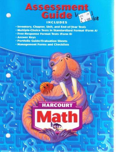 9780153365393: Harcourt Math: Assessment Guide, Grade 3