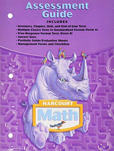 9780153365409: Assessment Guide: Harcourt Math Grade 4
