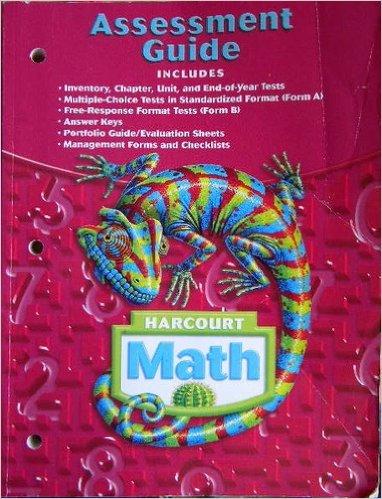 9780153365423: Harcourt Math: Assessment Guide, Grade 6