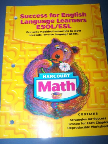 9780153365430: Harcourt Math: Success for English Language Learners ESOL/ESL, Grade 1