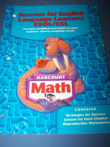 9780153365454: Success for English Language Learners ESOL/ESL, Grade 3 (Harcourt Math)