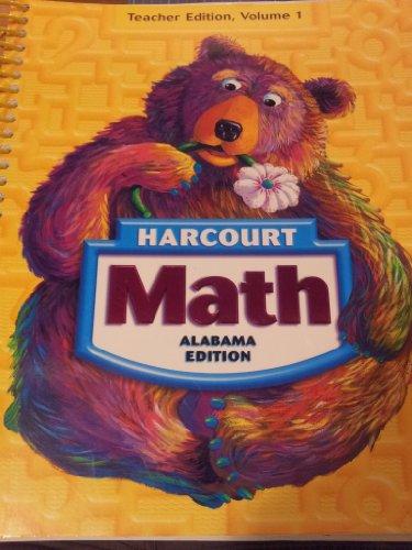 Harcourt Math Grade 1 [Alabama Teacher Edition,: Maletsky, Andrews, Bennett,