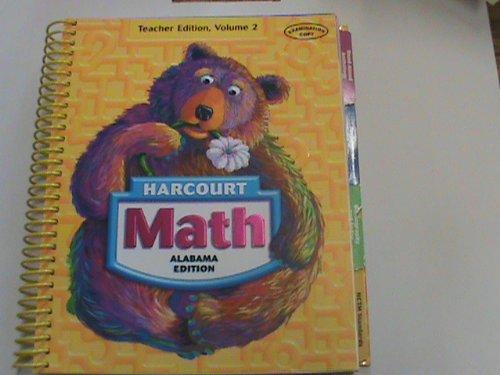 9780153384615: Harcourt Math Grade 1 [Alabama Teacher Edition, Volume 2]
