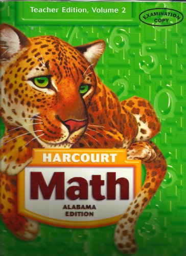 Math Grade 5 [Alabama Teacher Edition], Volume 2 (Harcourt)