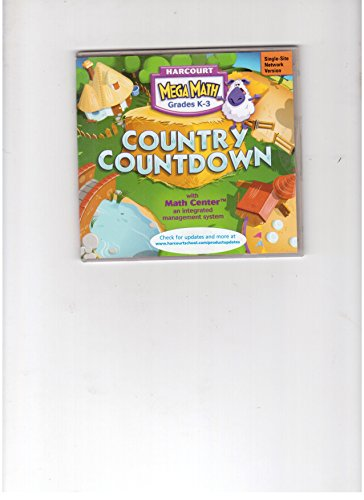 9780153385940: Harcourt Mega Math Grades K-3 Country Countdown with Math Center