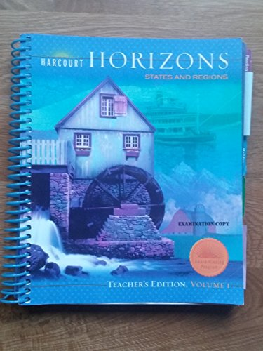 9780153396304: Harcourt Horizons 2005 Edition, Vol.1: States and Regions, Teacher Edition
