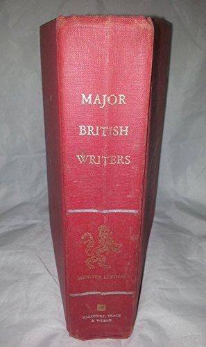 9780153396502: Major British Writers Shorter Edition
