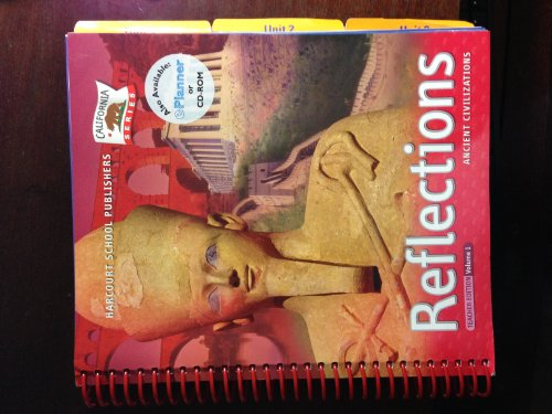 9780153397219: Harcourt School Publishers Reflections California: Teacher's Edition Vol 1 Ancient Civ 2007
