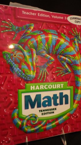Harcourt Math, TN Teacher Edition, Grade 6, Volume 1