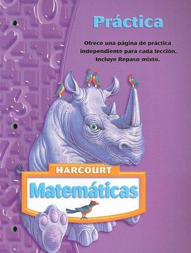 9780153411335: Harcourt Matematicas: Práctica Grade 4 (Spanish Edition)