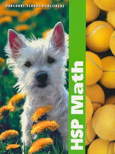 9780153412585: Harcourt School Publishers Math: Student Edition Grade K 2009