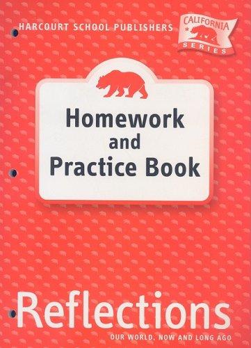 9780153414664: Harcourt School Publishers Reflections California: Homework & Practice Book Reflections 07 Grade K