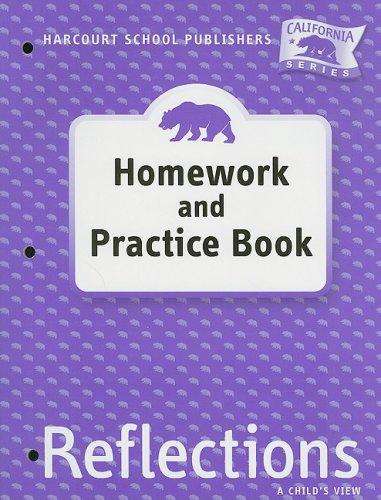 9780153414671: Harcourt School Publishers Reflections California: Homework & Practice Book Reflections 07 Grade 1