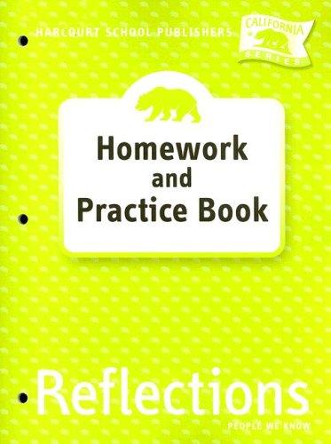 9780153414688: Harcourt School Publishers Reflections California: Homework & Practice Book Reflections 07 Grade 2