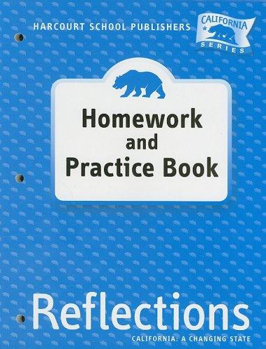 9780153414794: Harcourt School Publishers Reflections California: Homework & Practice Book Lif Reflections 07 Grade 4