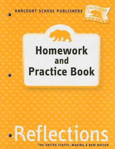 9780153414800: Harcourt School Publishers Reflections California: Homework & Practice Book Reflection, Grade 5